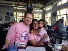 Jody and family at the Purple Polka Dot Race