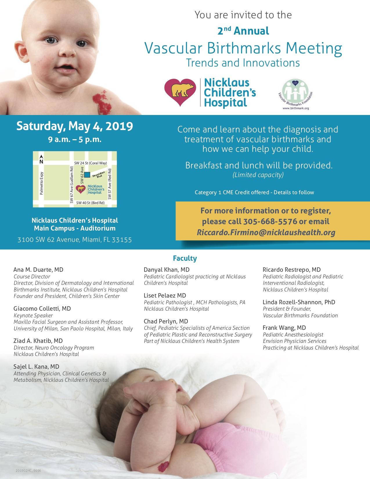Annual Vascular Birthmarks Meeting in Miami - Vascular